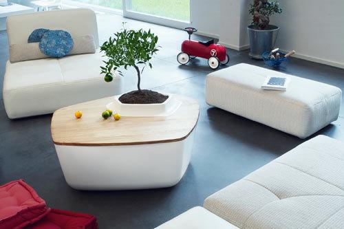 《长在家具中的植物-内嵌绿植的家具》
