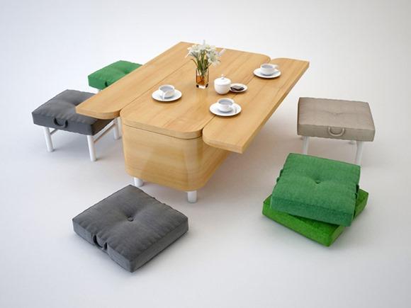 《省空间的好设计 多功能餐桌沙发》