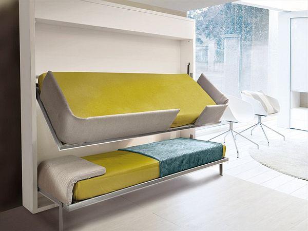 《小户型必备家居能自由折叠的创意上下床》