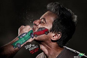 非常能表现人体感官的交通安全广告