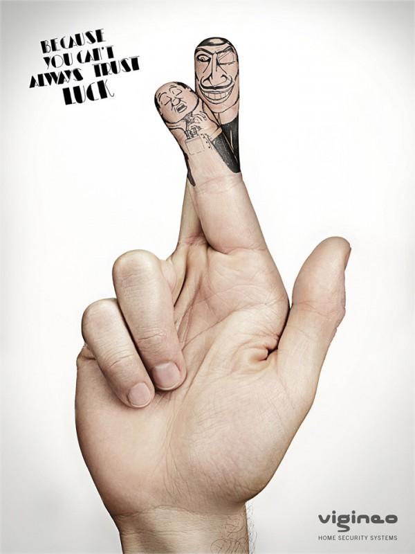 《手指广告创意 警惕身边的危险》