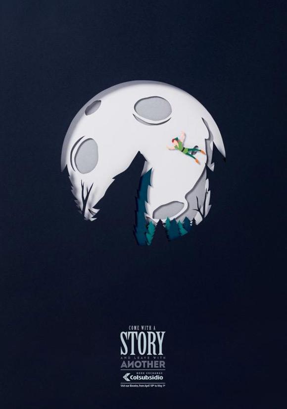 《创意二手图书交易海报 你记得这个故事吗?》