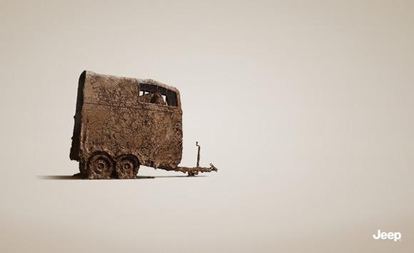 《jeep车创意广告 值得细细品味的创意海报》