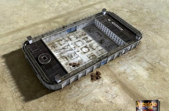 《户外杂志创意广告 不做高科技产品的囚徒》