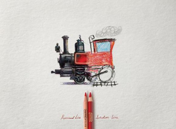 《绘画笔创意广告 优秀之处必有独特之处》