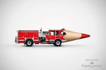 重视色彩还原度的彩色笔创意广告