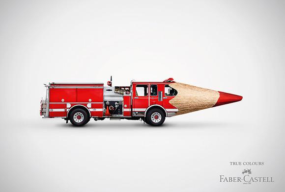 《重视色彩还原度的彩色笔创意广告》