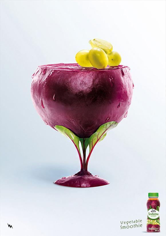《水果创意广告 色彩心理学的灵活运用》