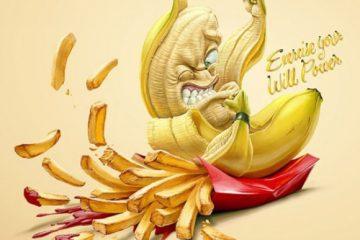 健康组织公益海报 远离垃圾食品