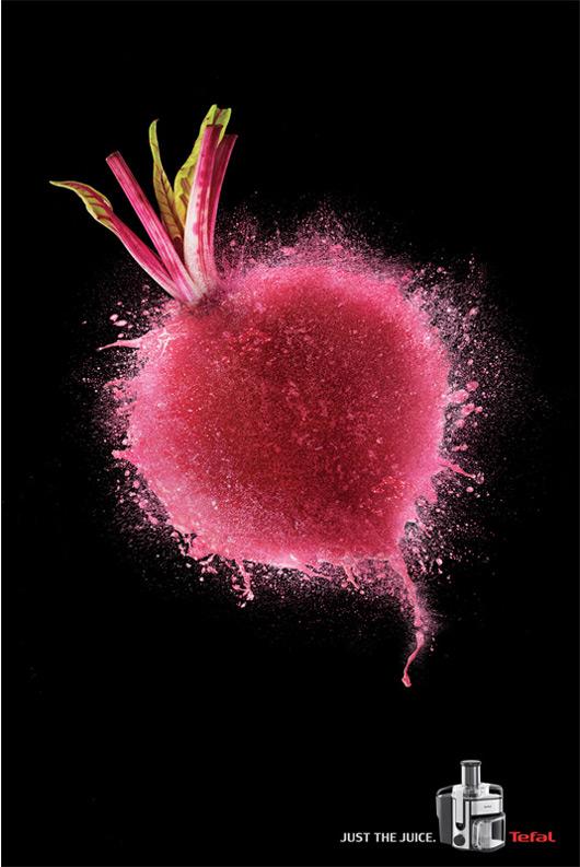 《视觉冲击力极强的水果创意榨汁机品牌广告》