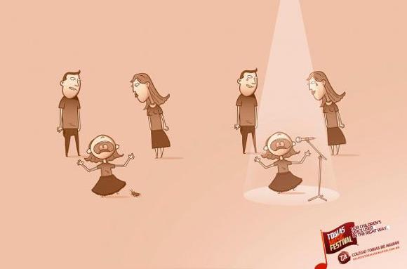 """《托比亚斯音乐节创意广告""""孩子的声音""""》"""