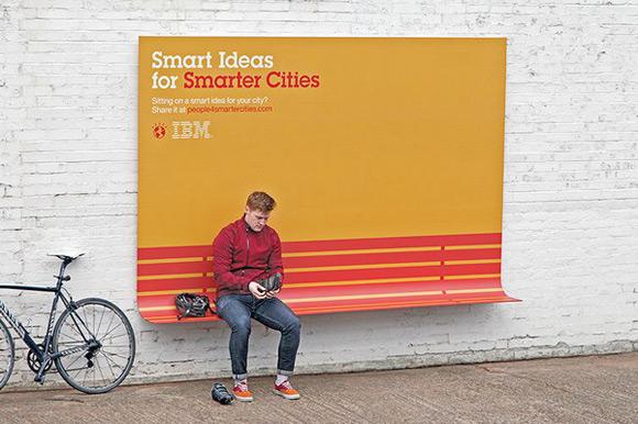 《广告形式的创新:IBM人性化户外创意广告》