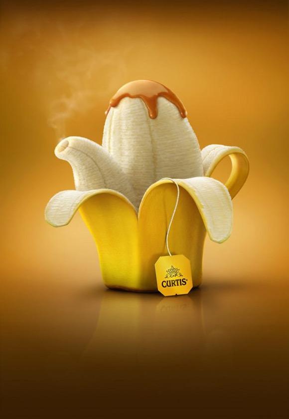 《美味有趣的水果创意图片广告》