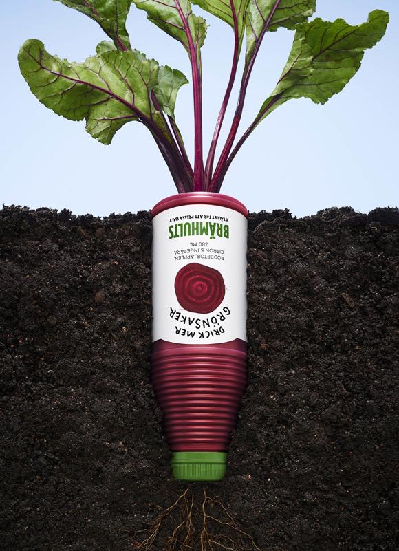 《纯天然的果蔬汁饮料创意广告》