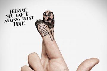 手指广告创意 警惕身边的危险