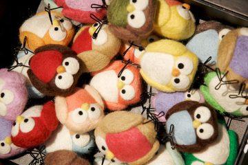 毛茸茸的可爱手工毡布小鸟 手工DIY布偶