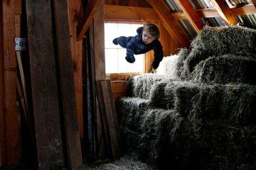 儿童创意摄影之变成超人的梦想 孩子是会飞的天使