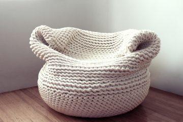 毛线也可以编出家居 舒适的手工毛线沙发