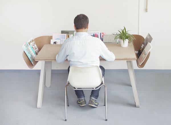 《排水渠一样的工作台 让桌面更加清爽》