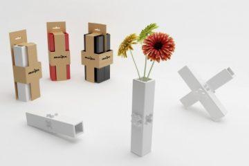 让花瓶可以像积木一样随心所以 模块化花瓶