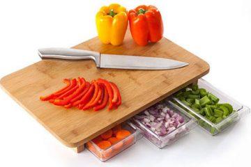 方便贴心的多功能菜板 抽屉式切菜板