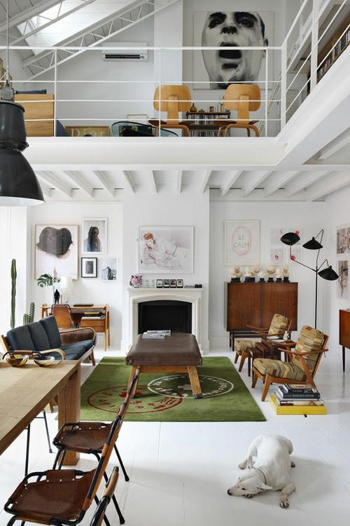 《开放式概念室内建筑设计理念 阁楼的创意》
