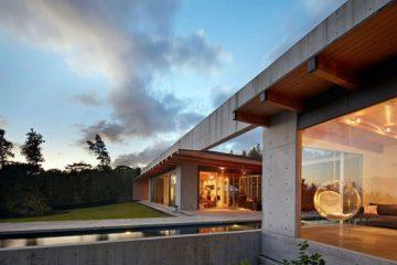 单层线性别墅 融入大自然的居住空间