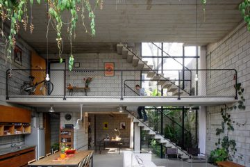 舒适的城市家庭设计 庭院一样的开放式设计