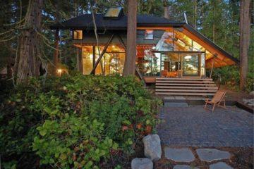 豪华小木屋别墅设计 让你住在丛林眺望大海