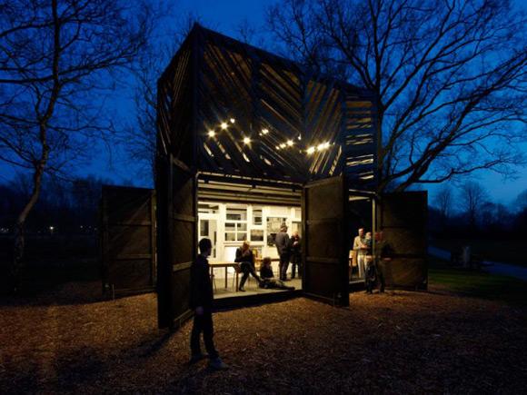 《开放式咖啡吧设计 独有的露天另类风格》