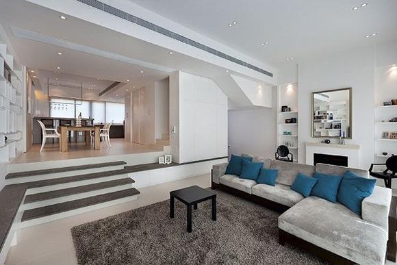 《现代豪华住宅室内设计 创意客厅壁柜设计》