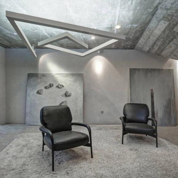 《旧房改造的现代化风格茶楼设计》