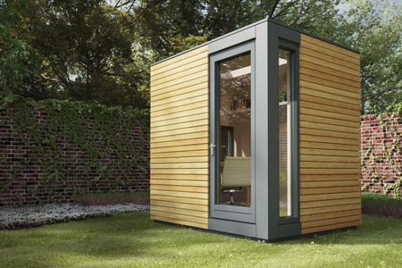 《花园中的小木屋工作室 美丽的创意木屋设计》