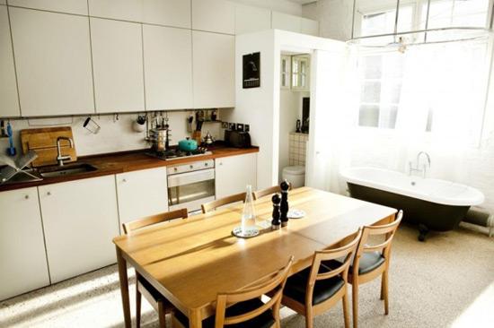 《简约现代公寓舒适装修 隔层的有趣运用》