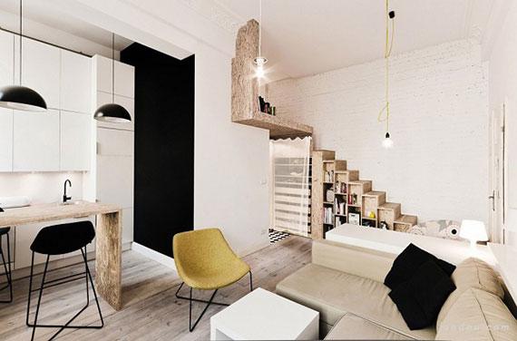 《温馨舒适的29平米超小型公寓改造》