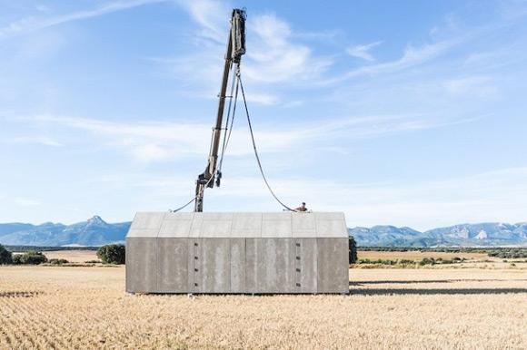 《创意理想住宅可移动的水泥小屋》