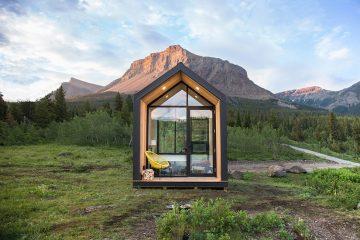 在极简主义的小房子里舒适的享受各地的风景