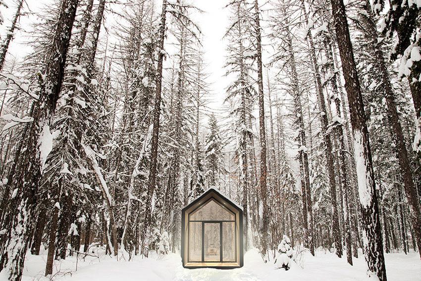 《在极简主义的小房子里舒适的享受各地的风景》