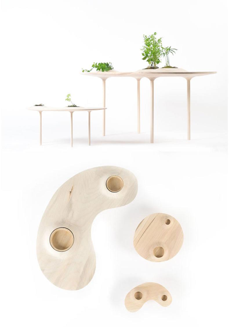 《你会爱上了这个可以养植物的茶桌》
