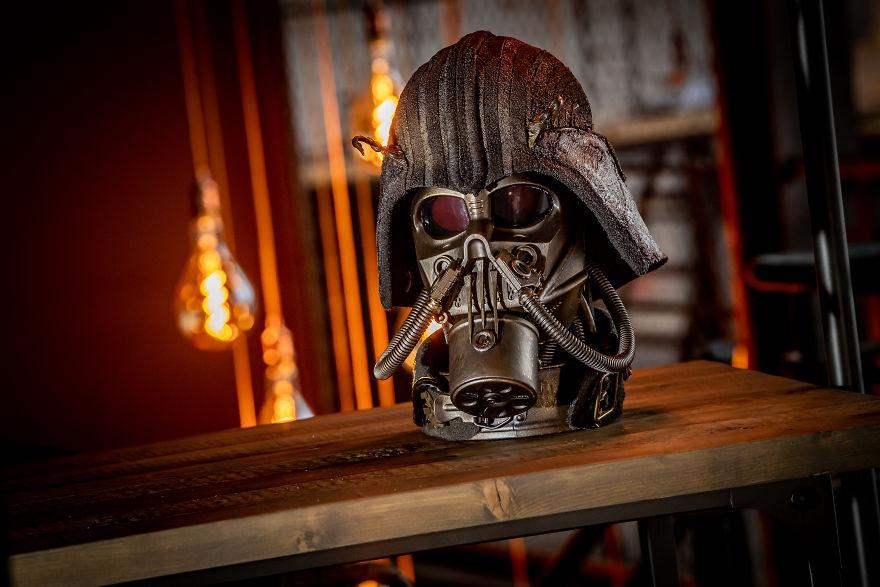 《使用回收材料制作令人惊叹的蒸汽朋克风格雕塑》