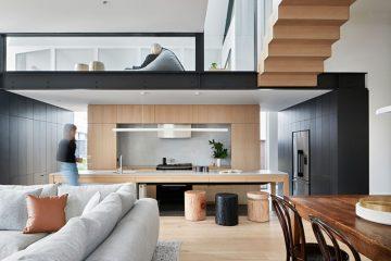 现代简约原木色复式大家庭住宅