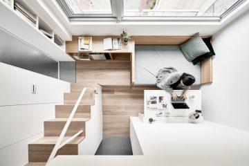 空间被充分利用的22平超小型公寓改造
