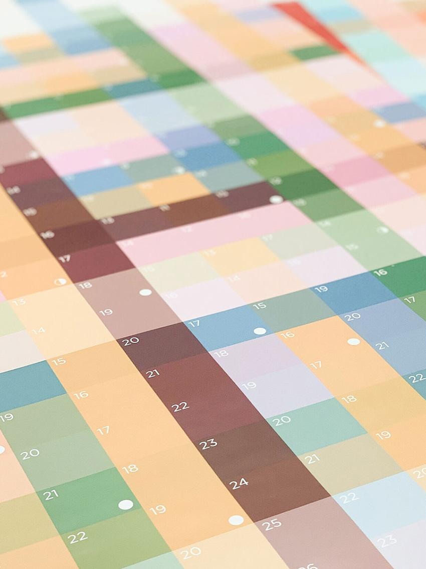 《创意炫彩壁挂式计划日历》