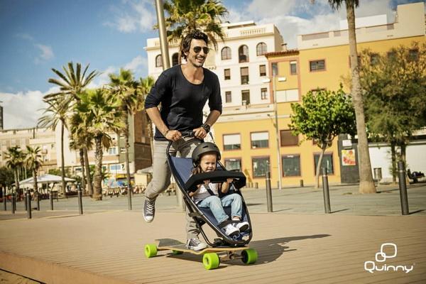《滑板与婴儿车的创意结合》