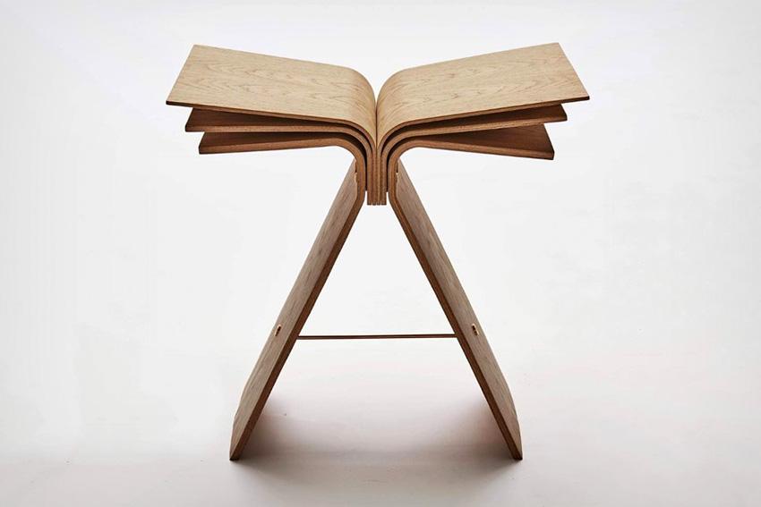 《造型独特的弹性胶合板材质打造的弹性凳子》