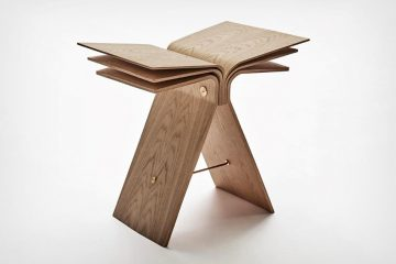 造型独特的弹性胶合板材质打造的弹性凳子