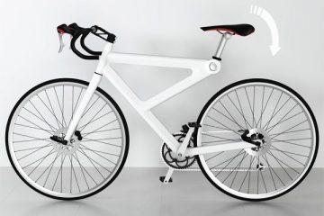 有趣的自行车一体式防盗锁设计